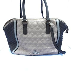 K56 Guess Shoulder Satchel Bag Light Pink and Gray